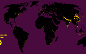 the world's population mapped