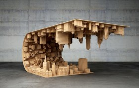 inception coffee table, Stelios Mousarris, wave coffee table