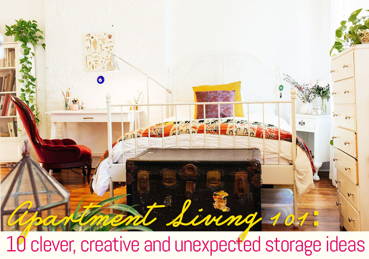 10 clever creative and unexpected storage ideas for apartment dwellers