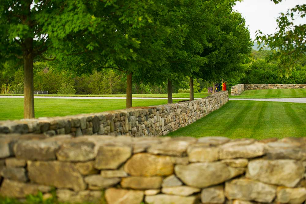 Janice Parker Landscape Architects, florishing gardens, Modern Barn House, apple orchard, infinity pool, wooden clad, Malus Sargentii, Connecticut, old farm
