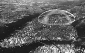 Buckminster Fuller , geodesic dome, dome over manhattan