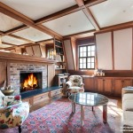 49 West 9th street, co-op, penthouse, living room, fireplace, greenwich village