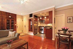 337 West 20th Street, muffin house, one-bedroom co-op, chelsea, kitchen, living room