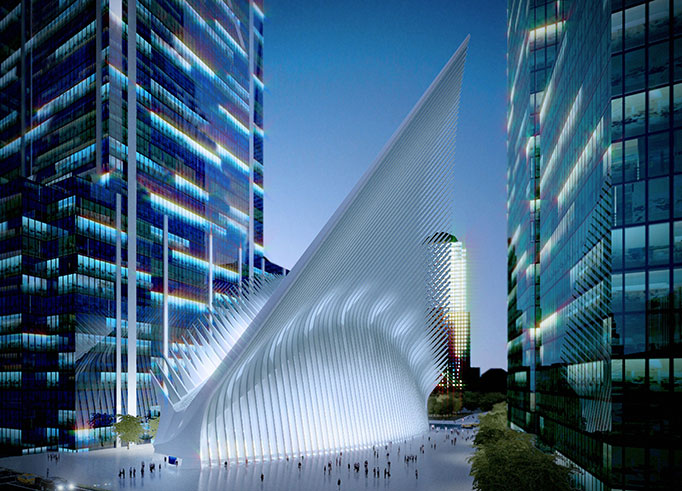 world trade center transportation hub, Santiago Calatrava, Port Authority