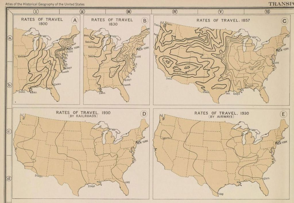 NYC travel map, Quartz, Atlas of the Historical Geography of the United States