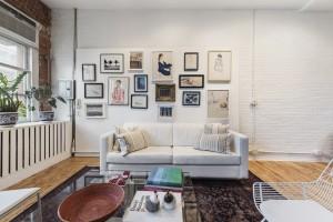 81 grand street, living room, soho, penthouse