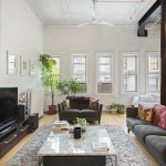 81 grand street, soho, loft, living room, warehouse details, brick
