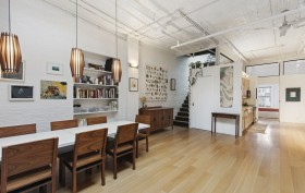 81 Grand Street, dining room, soho, loft