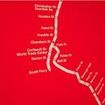 Subway Map Red Detail 685
