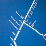 Subway Map Blue 685