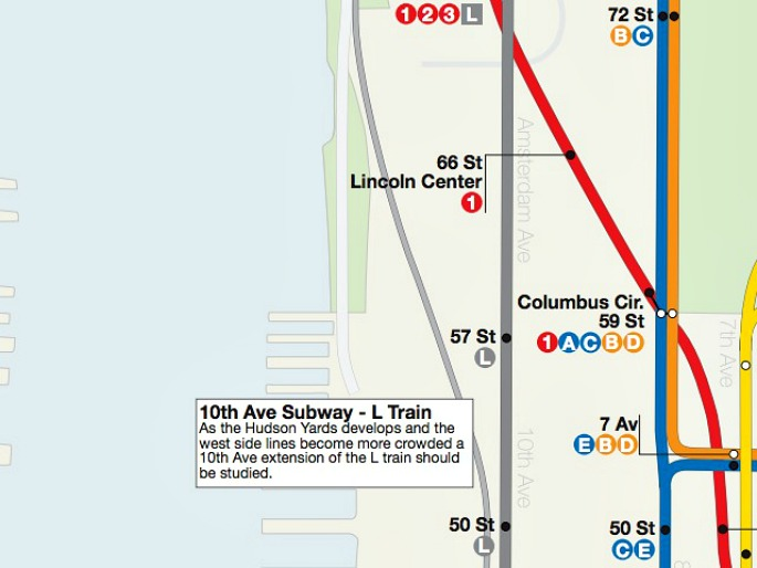 L Subway Map.Dream Subway Map Includes A 10th Avenue Subway And A Path To Staten