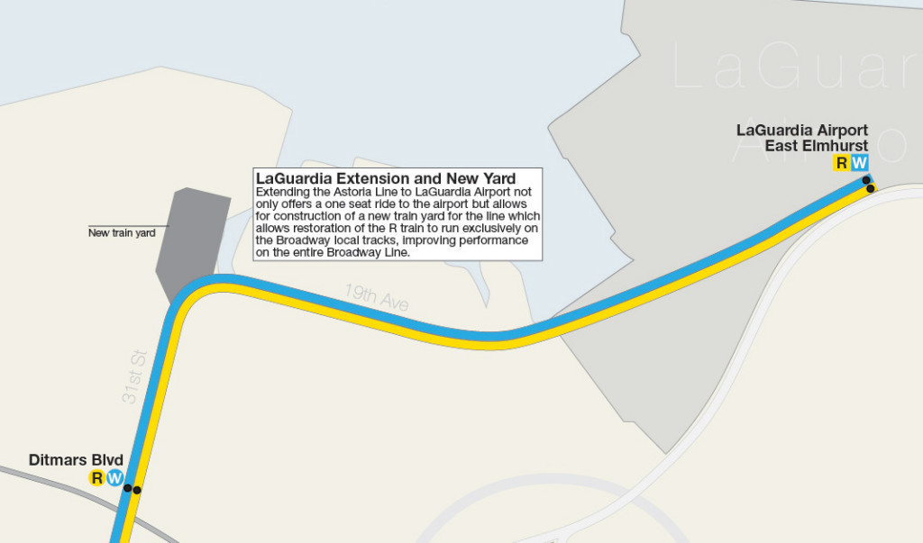Laguardia Subway Map.Dream Subway Map Includes A 10th Avenue Subway And A Path To Staten