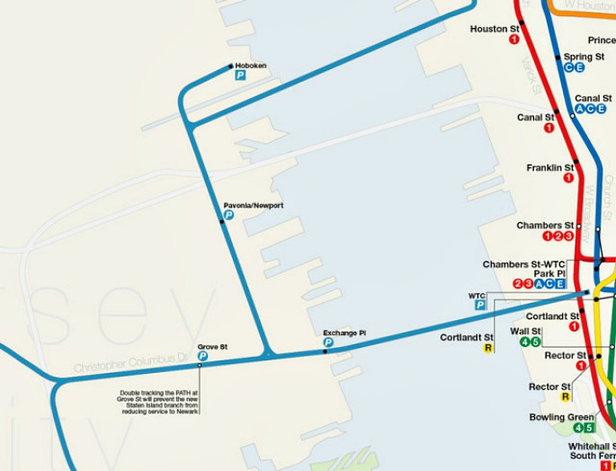 Dream Subway Map Includes a 10th Avenue Subway and a PATH to ...