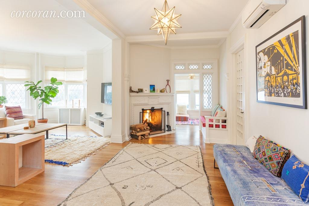 Charmant Stained Glass And Pitched Ceilings At This $2.8M Freestanding Victorian In Ditmas  Park