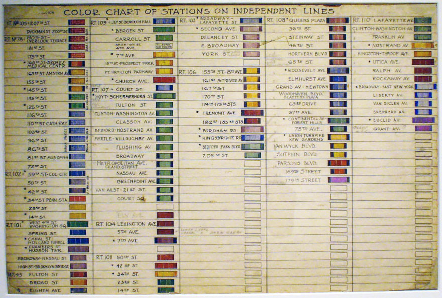 nyc subway, subway map, IND, Independent subway, station color code, squire vickers