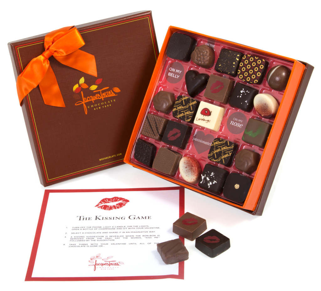 Jacques Torres Chocolate, chocolate games, The Kissing Game