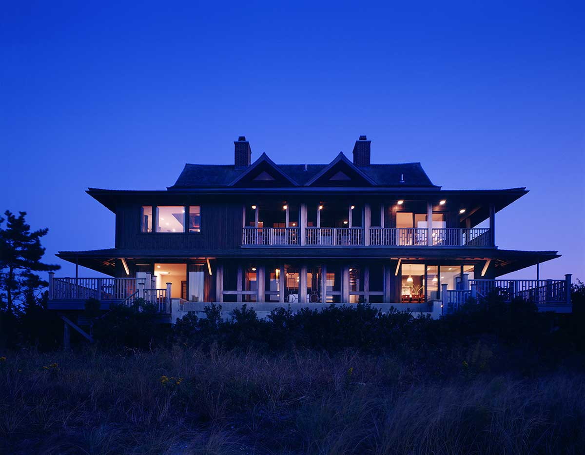 CWB Architects, Thai Style Southampton, Asian style, Modern Sea Front home, Thai Beach House, Southampton, Mahogany, wooden pilings, Shinnecock Bay, Atlantic Ocean