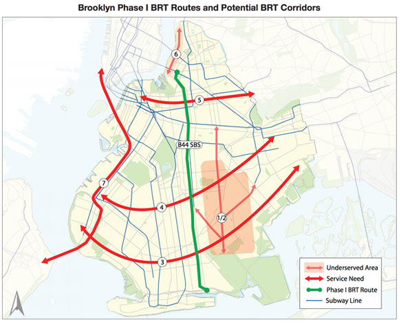 Brooklyn-BRT map