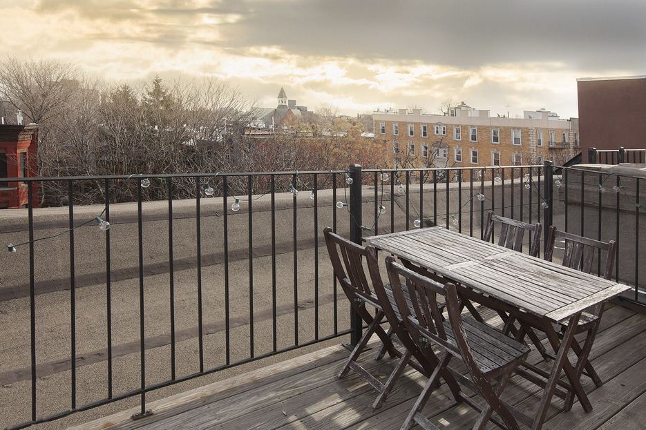 396 Franklin Avenue, roof deck, patio, brownstone roof, condo, clinton hill