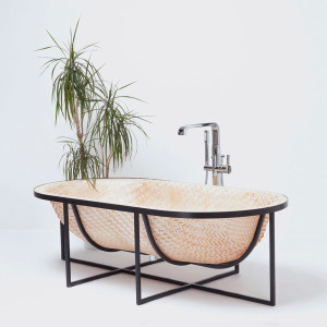 Otaku, Tal Engel, wood veneer bathtub