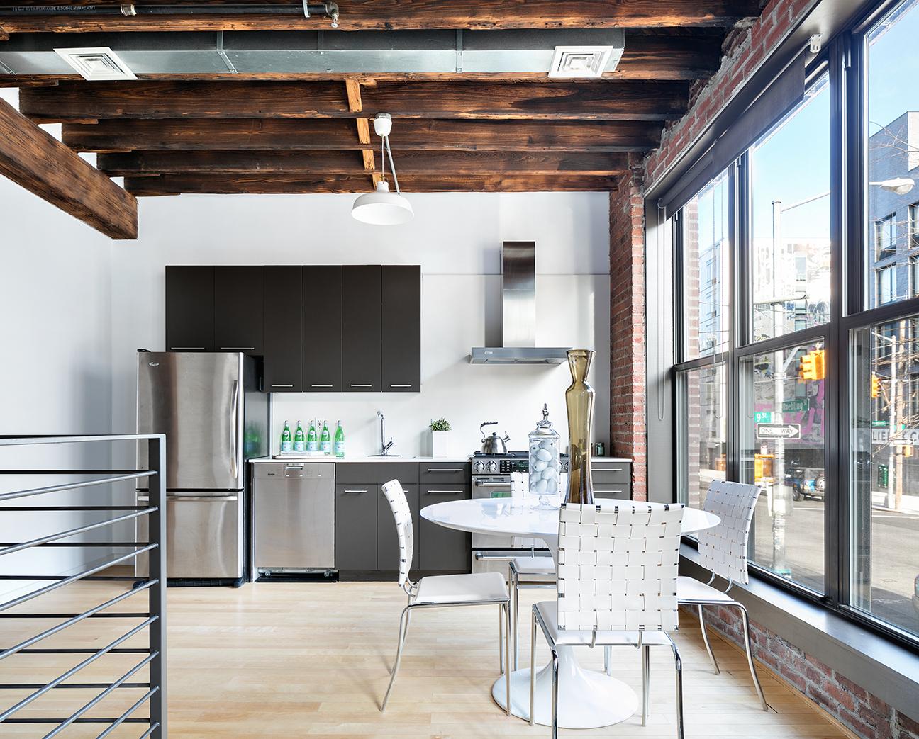 234 North 9th Street, dining room, open kitchen, loft, condo, duplex, williamsburg
