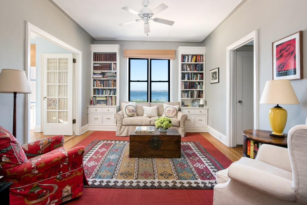 2 Grace Court. living room, duplex, co-op, brooklyn heights
