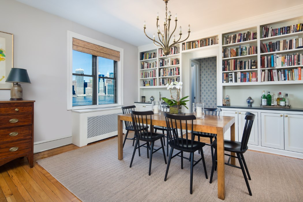 Duplex In Historic Brooklyn Heights CoOp Built For Manhattan Views Simple Dining Room Brooklyn