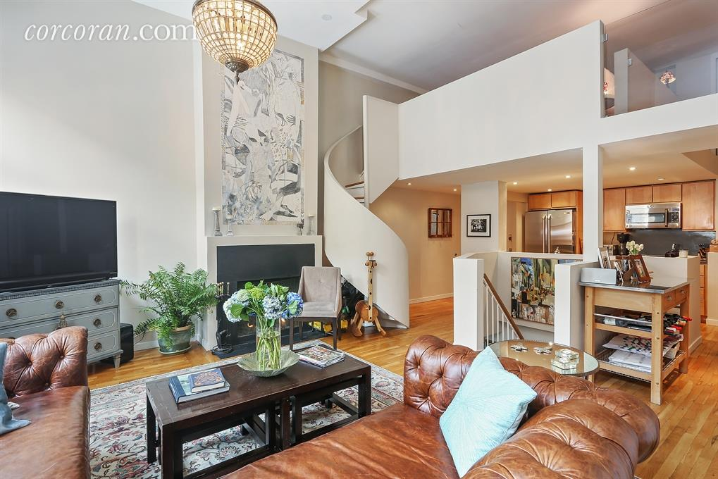 Lofty Park Slope Co Op Boasts Double Height Ceilings And A Spiral Staircase
