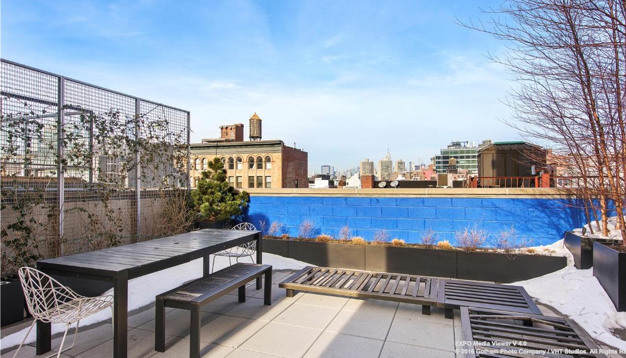 58 Walker Street, rooftop penthouse, roof terrace, outdoor space, tribeca