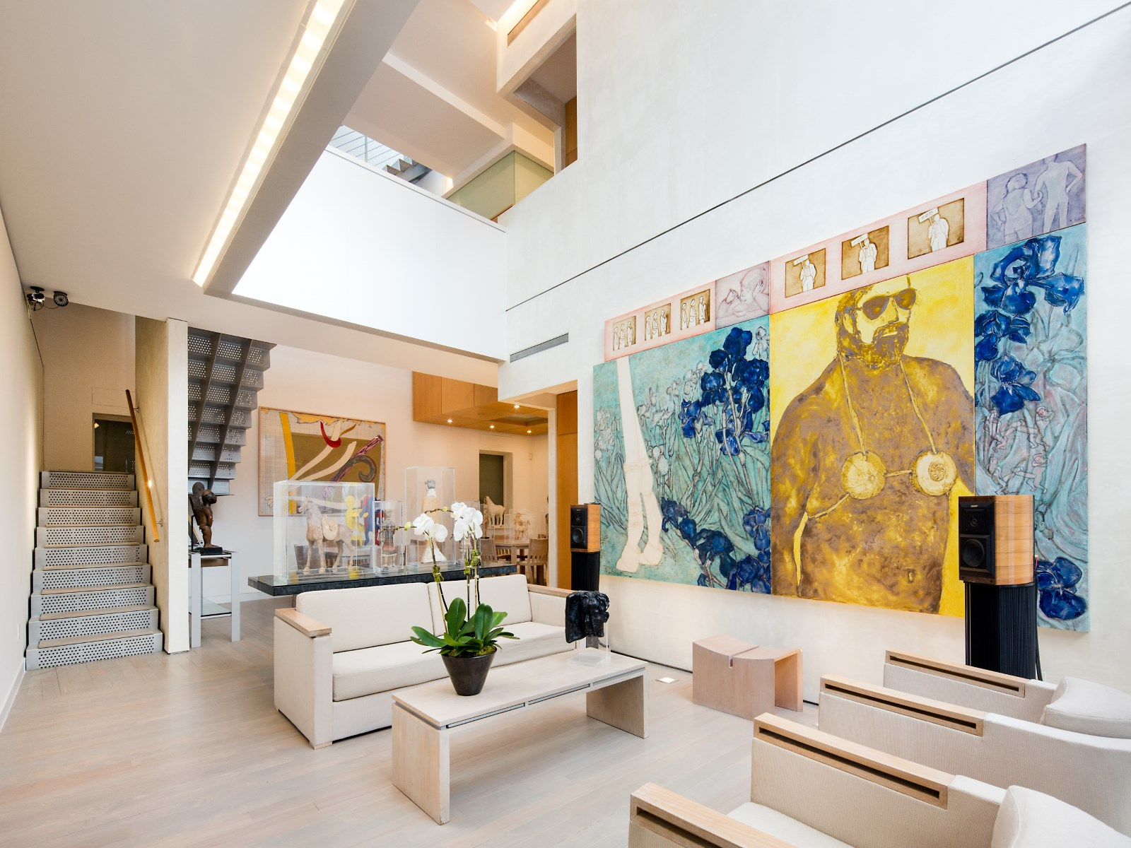 An art collector 39 s 14 5m west village carriage house is both private gallery and family home - Housing interiors ...
