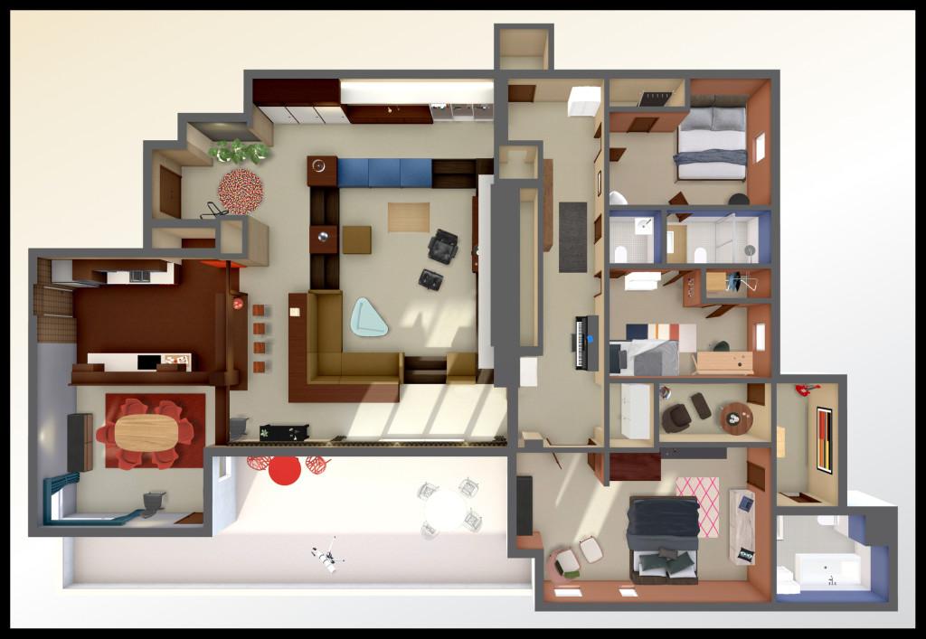 Don Draper Apartment Virtual Tour Floorplan