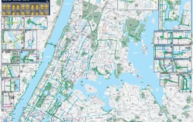 NYC 2016 bike map, bike lanes