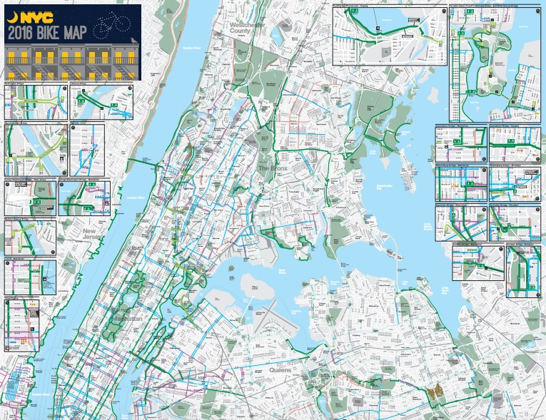 The Official 2016 NYC Bike Map Has Arrived | 6sqft