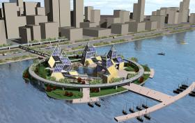 Hub on the Hudson, Eytan Kaufman, Hudson Yards, floating park