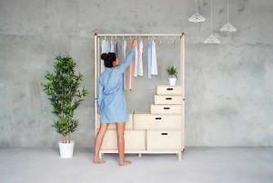 Rianne Koens, Wood And Coppper, Open Wardrobe, Birchwood, Turkish inspiration,