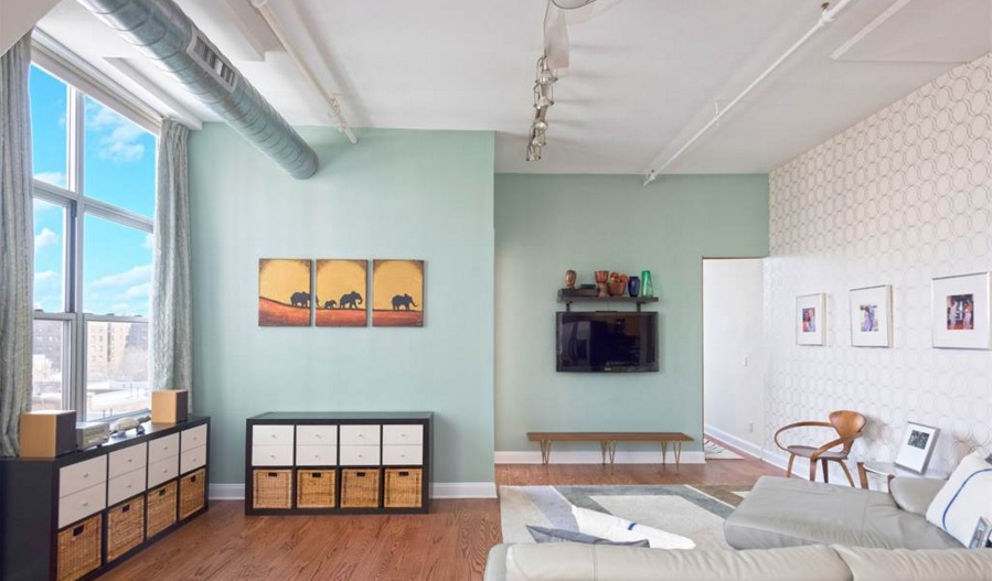 176 johnson street, toy factory lofts, downtown brooklyn, living room