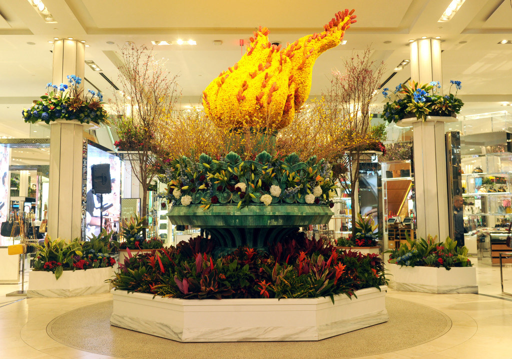 Macy's Flower Show, Macy's Herald Square, flower sculptures, department store displays