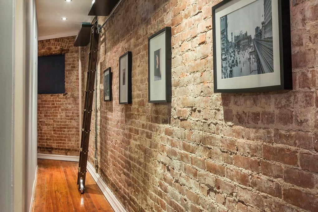 242 West 104th Street, upper west side, ladder, hallway, exposed brick