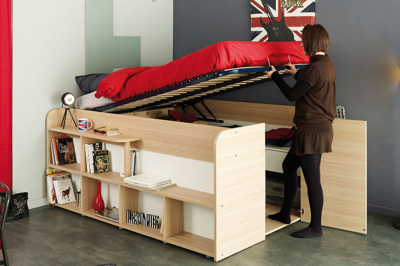 Clever Bed Closet Combo Makes Room For Storage And Sleep