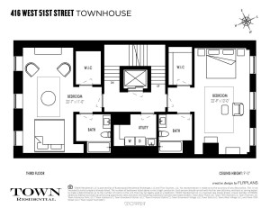 416 West 51st Street, Cool Listings, Hells Kitchen, Clinton, Townhouse, Suk Design Group, Manhattan Mansion, Midtown