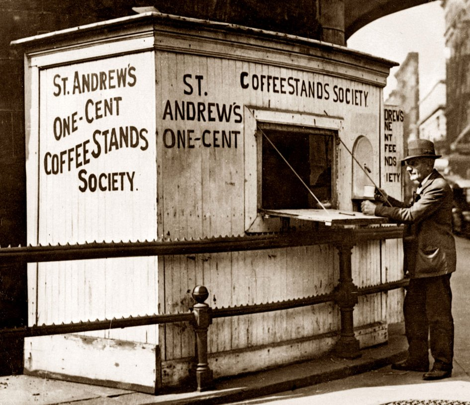St. Andrews One Cent Coffee Stand, Clementine Lamadrid, Frank Leslie's Sunday Magazine