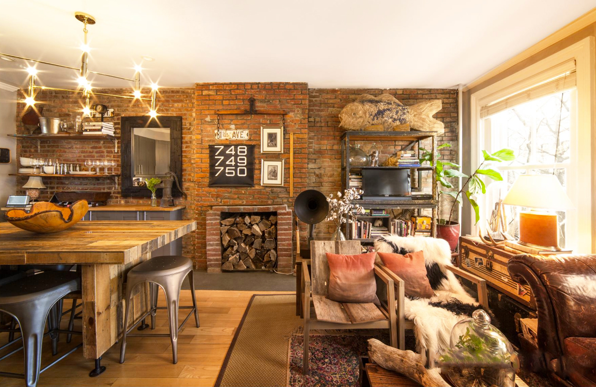 Barn Wood And Brick Abound At This $1.1M Cobble Hill Co Op