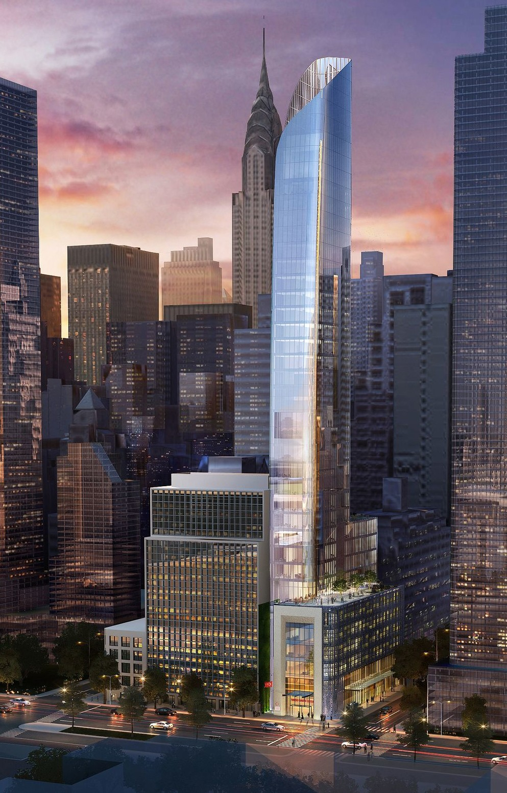 Renderings revealed of turkeys shiny new 32 story consulate tower turkevi center turkish consulate perkins eastman 821 first avenue m4hsunfo