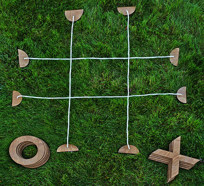 Giant Tic-tac-toe Set Transforms any Patio into a Playground