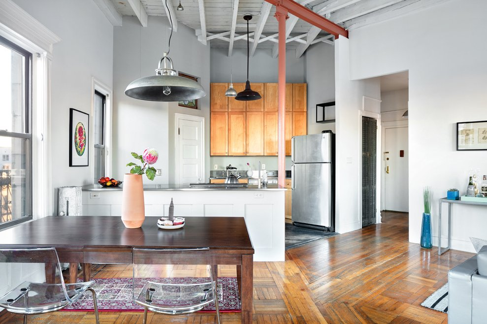 296 Sterling Place, Prospect Heights, co-op loft, triangular apartment