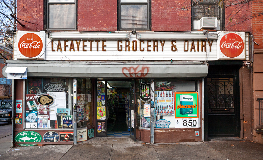 Lafayette Grocery & Dairy, Privilege Signs, James and Karla Murray, disappearing storefronts, NYC mom and pops