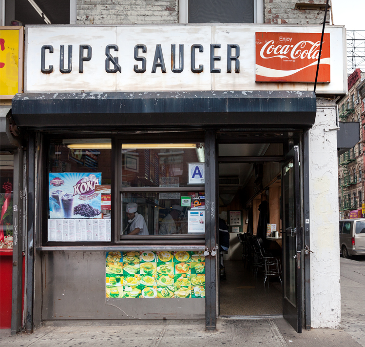 Cup & Saucer, Privilege Signs, James and Karla Murray, disappearing storefronts, NYC mom and pops