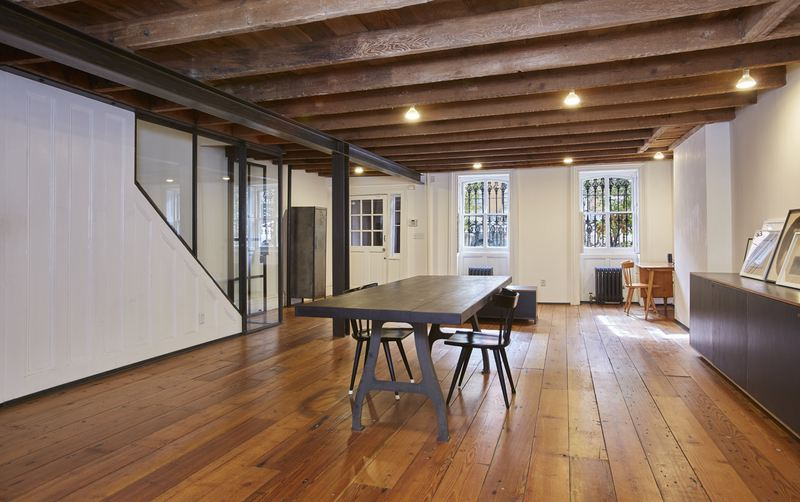 243 Dean Street, townhouse, ceiling beams, renovation, boerum hill
