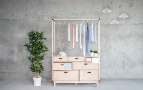 Rianne Koens, Wood And Coppper, Open Wardrobe, Birchwood, Turkish inspiration,