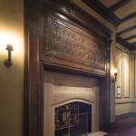 fireplace, hallway, villard mansion, villard houses